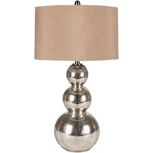 Surya Lamps Silvertone Mercury Glass Modern Table Lamp