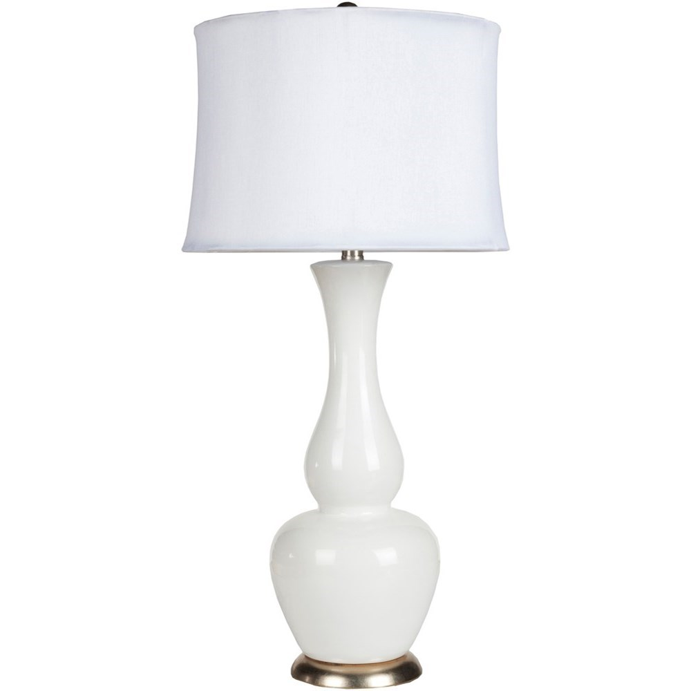 Ivory White Global Table Lamp