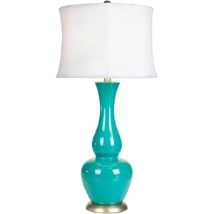 Turquoise Global Table Lamp