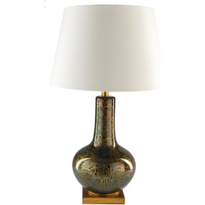Navy Blue with Gold Foil Rustic Table Lamp