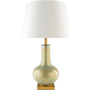 Spa Blue with Gold Foil Rustic Table Lamp