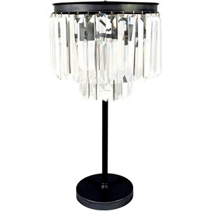 Brushed Silver Glam Table Lamp
