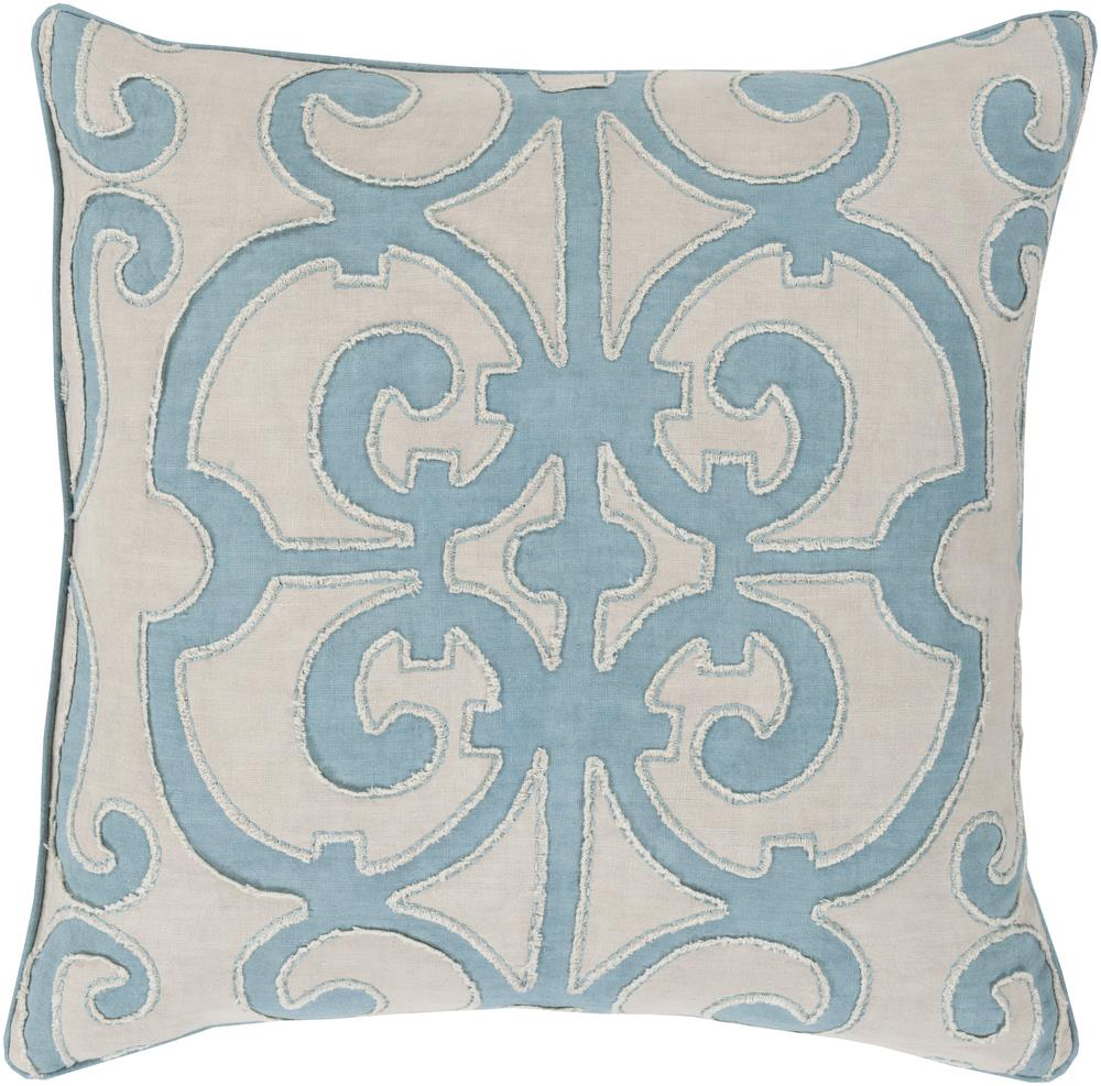 "Surya Pillows 18"" x 18"" Decorative Pillow - Item Number: AL002-1818P"
