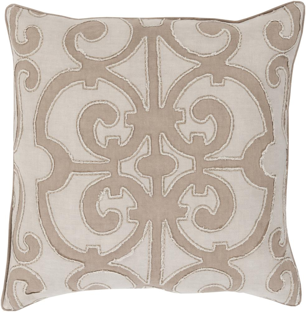 "Surya Pillows 20"" x 20"" Decorative Pillow - Item Number: AL005-2020P"