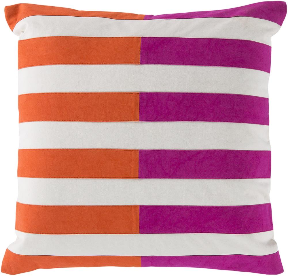 "Surya Pillows 22"" x 22"" Oxford Pillow - Item Number: AR133-2222P"