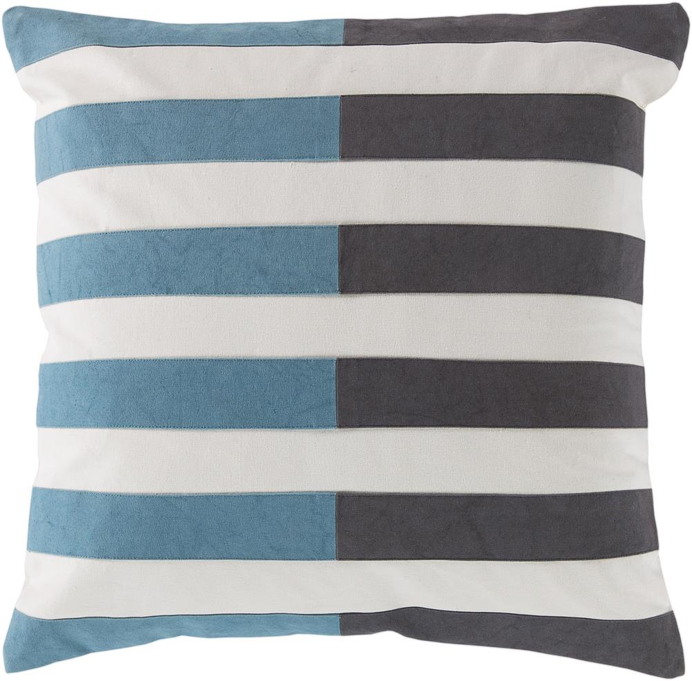 "Surya Pillows 18"" x 18"" Oxford Pillow - Item Number: AR134-1818P"