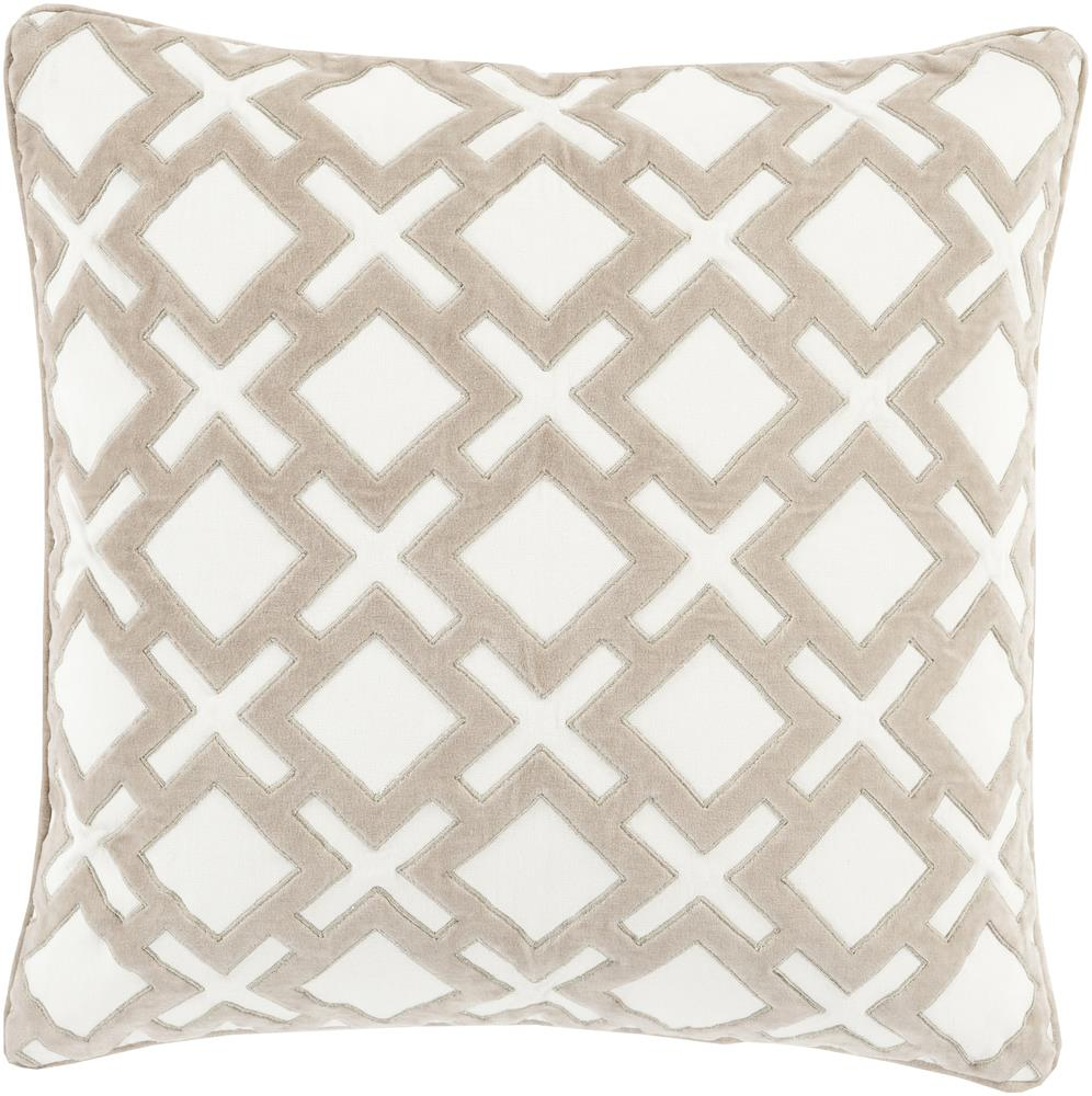 "Surya Pillows 20"" x 20"" Decorative Pillow - Item Number: AX002-2020P"