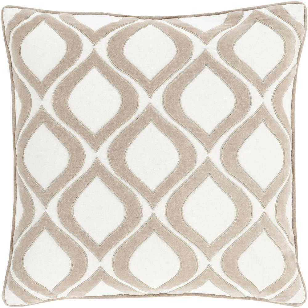 "Surya Pillows 20"" x 20"" Decorative Pillow - Item Number: AX007-2020P"