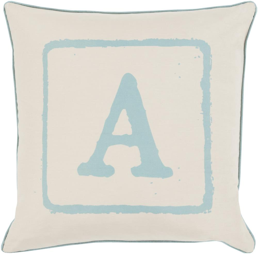 "Surya Rugs Pillows 22"" x 22"" Big Kid Blocks Pillow - Item Number: BKB022-2222P"