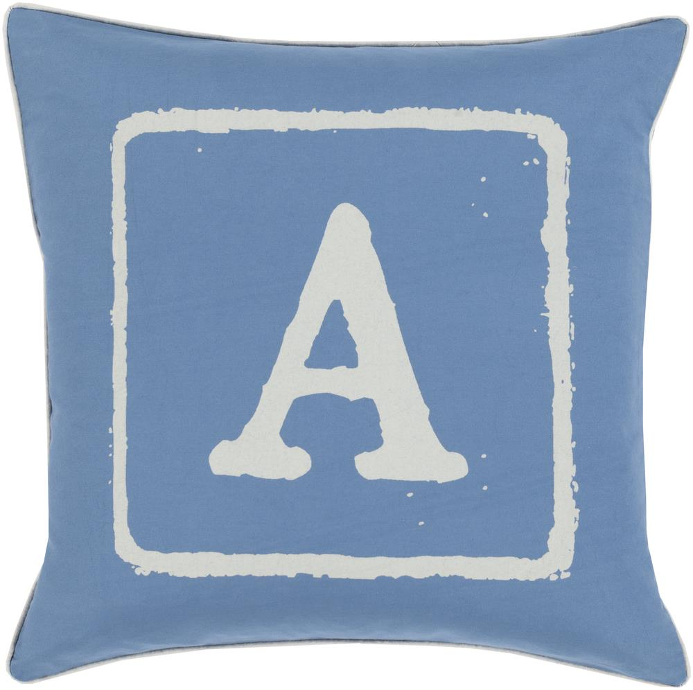 "Surya Rugs Pillows 22"" x 22"" Big Kid Blocks Pillow - Item Number: BKB024-2222P"
