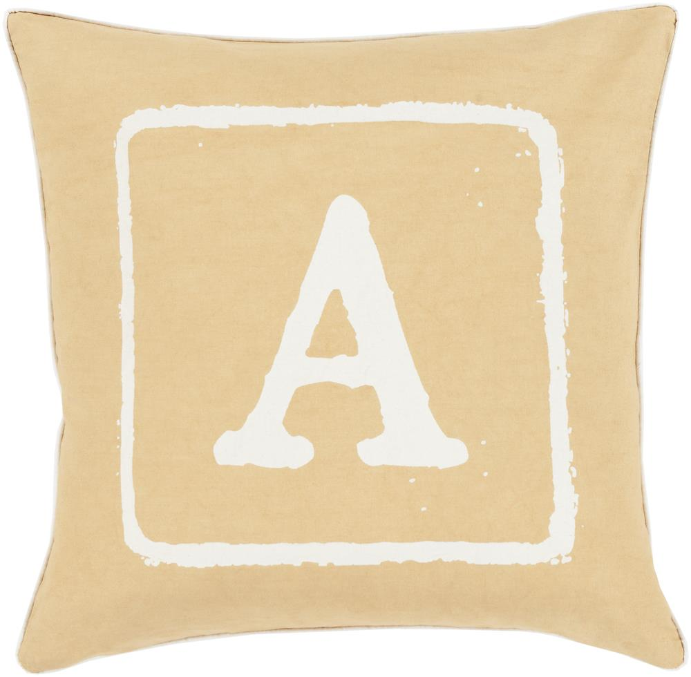 "Surya Rugs Pillows 20"" x 20"" Big Kid Blocks Pillow - Item Number: BKB025-2020P"