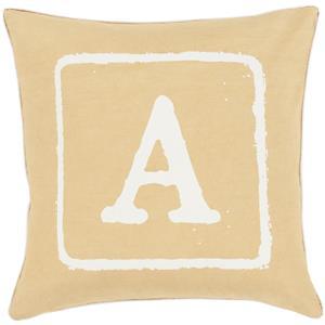 "Surya Rugs Pillows 22"" x 22"" Big Kid Blocks Pillow"