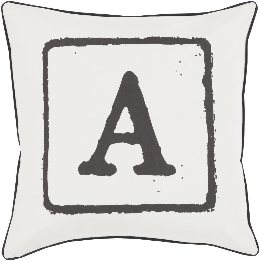 "Surya Rugs Pillows 22"" x 22"" Big Kid Blocks Pillow - Item Number: BKB026-2222P"