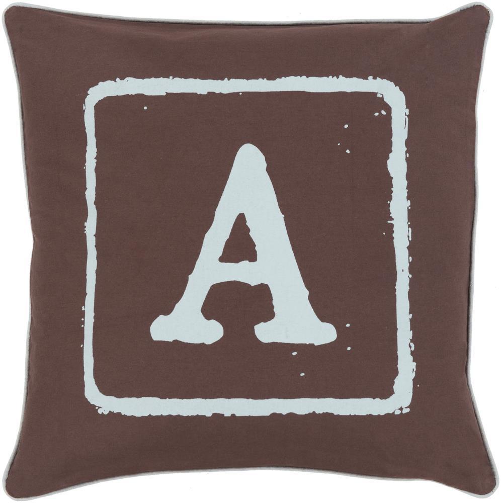 "Surya Rugs Pillows 18"" x 18"" Big Kid Blocks Pillow - Item Number: BKB027-1818P"