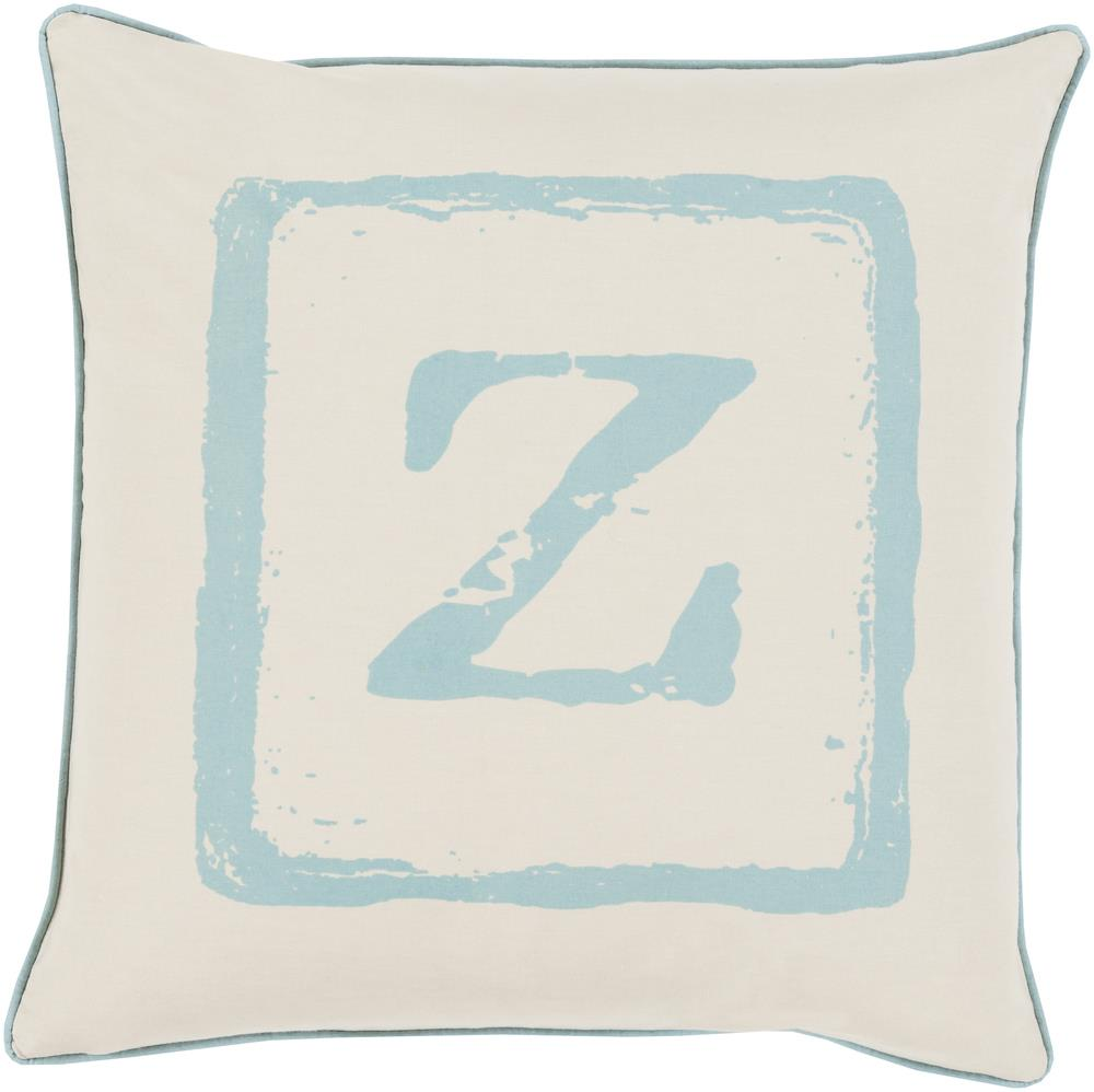 "Surya Rugs Pillows 22"" x 22"" Big Kid Blocks Pillow - Item Number: BKB029-2222P"