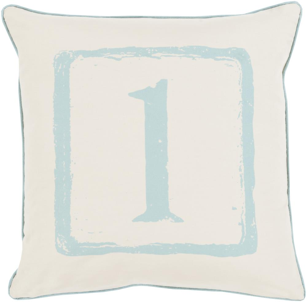 "Surya Rugs Pillows 18"" x 18"" Big Kid Blocks Pillow - Item Number: BKB036-1818P"