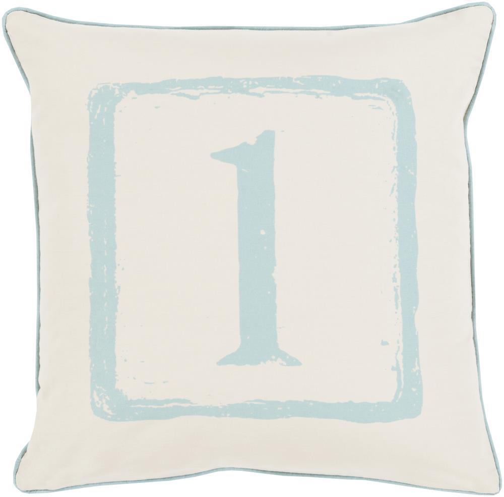 "Surya Rugs Pillows 22"" x 22"" Big Kid Blocks Pillow - Item Number: BKB036-2222P"
