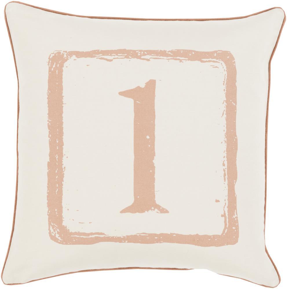 "Surya Rugs Pillows 22"" x 22"" Big Kid Blocks Pillow - Item Number: BKB037-2222P"