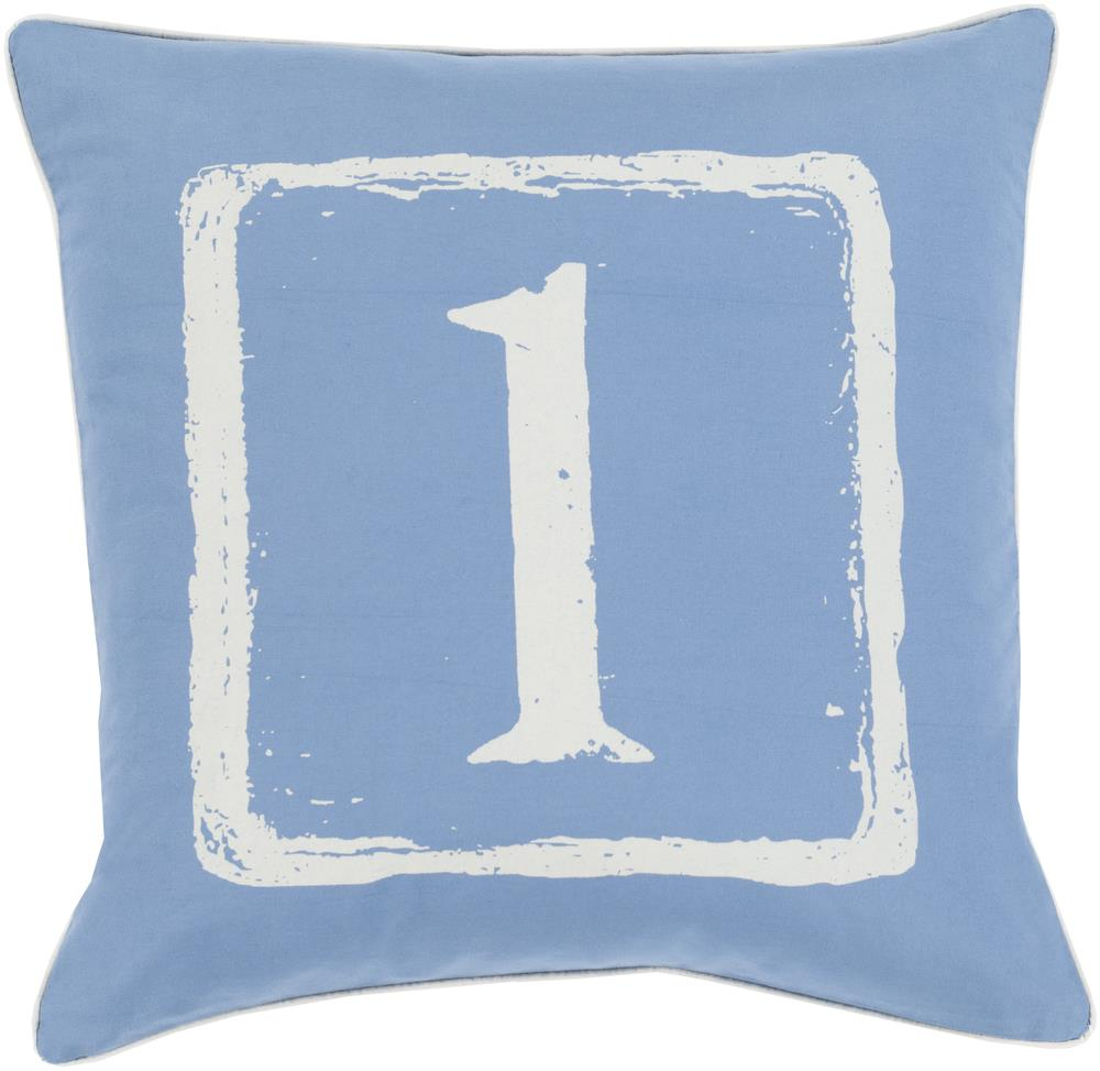 "Surya Rugs Pillows 18"" x 18"" Big Kid Blocks Pillow - Item Number: BKB038-1818P"