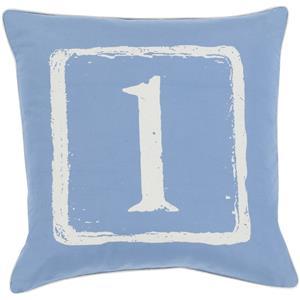 "Surya Rugs Pillows 18"" x 18"" Big Kid Blocks Pillow"