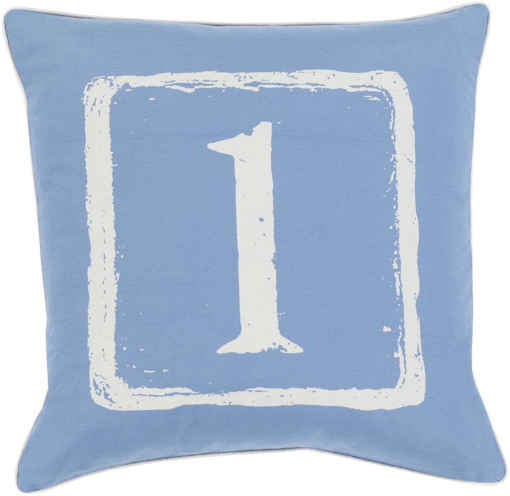 "Surya Rugs Pillows 22"" x 22"" Big Kid Blocks Pillow - Item Number: BKB038-2222P"