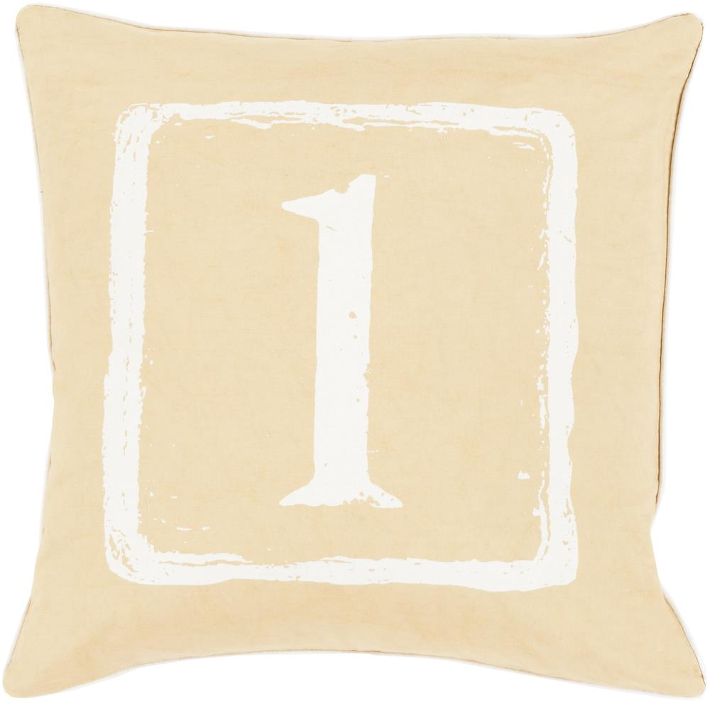 "Surya Rugs Pillows 18"" x 18"" Big Kid Blocks Pillow - Item Number: BKB039-1818P"