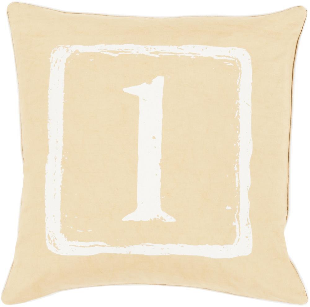 "Surya Rugs Pillows 22"" x 22"" Big Kid Blocks Pillow - Item Number: BKB039-2222P"