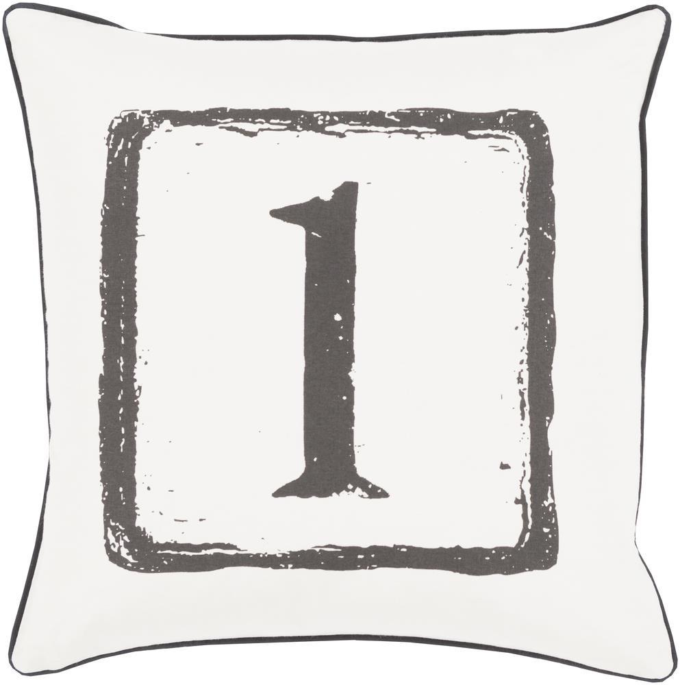 "Surya Rugs Pillows 22"" x 22"" Big Kid Blocks Pillow - Item Number: BKB040-2222P"