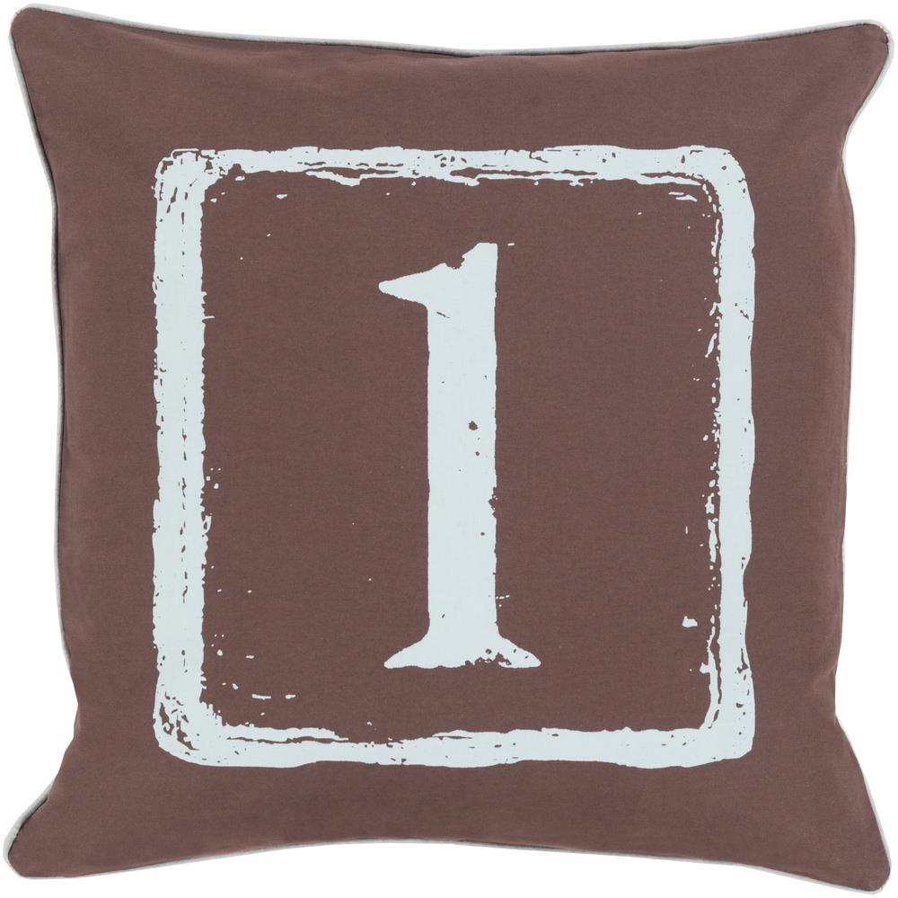 "Surya Rugs Pillows 22"" x 22"" Big Kid Blocks Pillow - Item Number: BKB041-2222P"