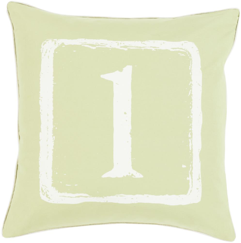 "Surya Rugs Pillows 18"" x 18"" Big Kid Blocks Pillow - Item Number: BKB042-1818P"