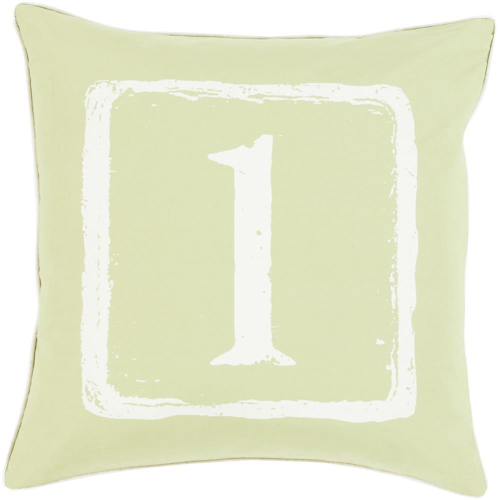 "Surya Rugs Pillows 22"" x 22"" Big Kid Blocks Pillow - Item Number: BKB042-2222P"