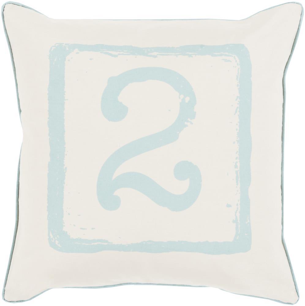 "Surya Rugs Pillows 18"" x 18"" Big Kid Blocks Pillow - Item Number: BKB043-1818P"