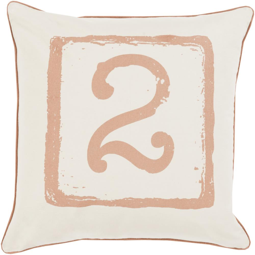 "Surya Rugs Pillows 20"" x 20"" Big Kid Blocks Pillow - Item Number: BKB044-2020P"