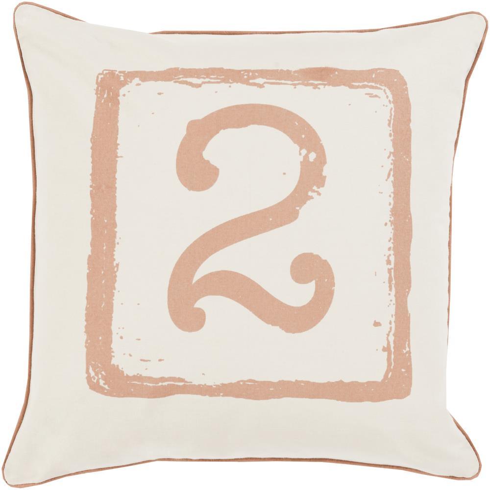 "Surya Rugs Pillows 22"" x 22"" Big Kid Blocks Pillow - Item Number: BKB044-2222P"