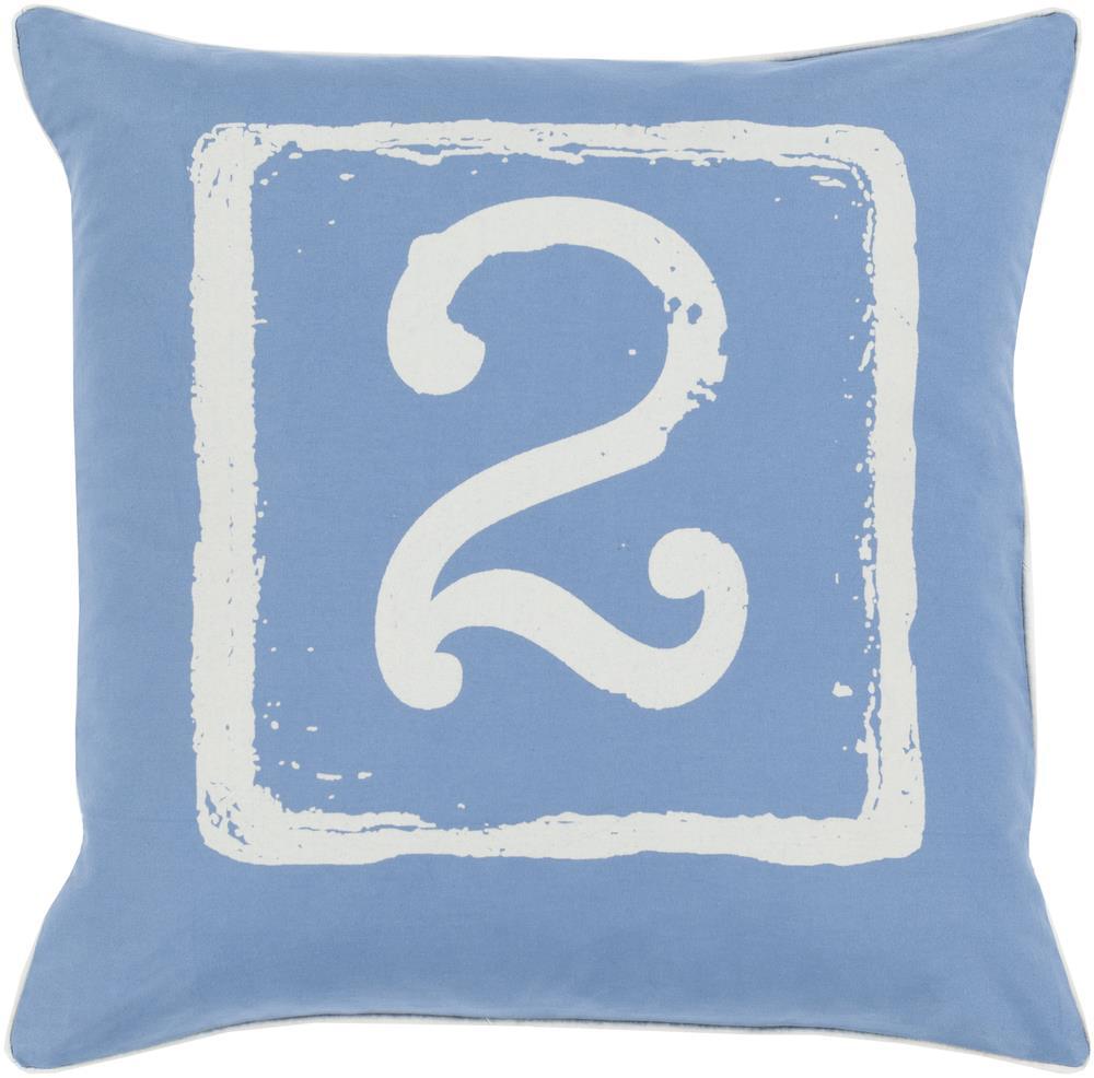 "Surya Rugs Pillows 22"" x 22"" Big Kid Blocks Pillow - Item Number: BKB045-2222P"