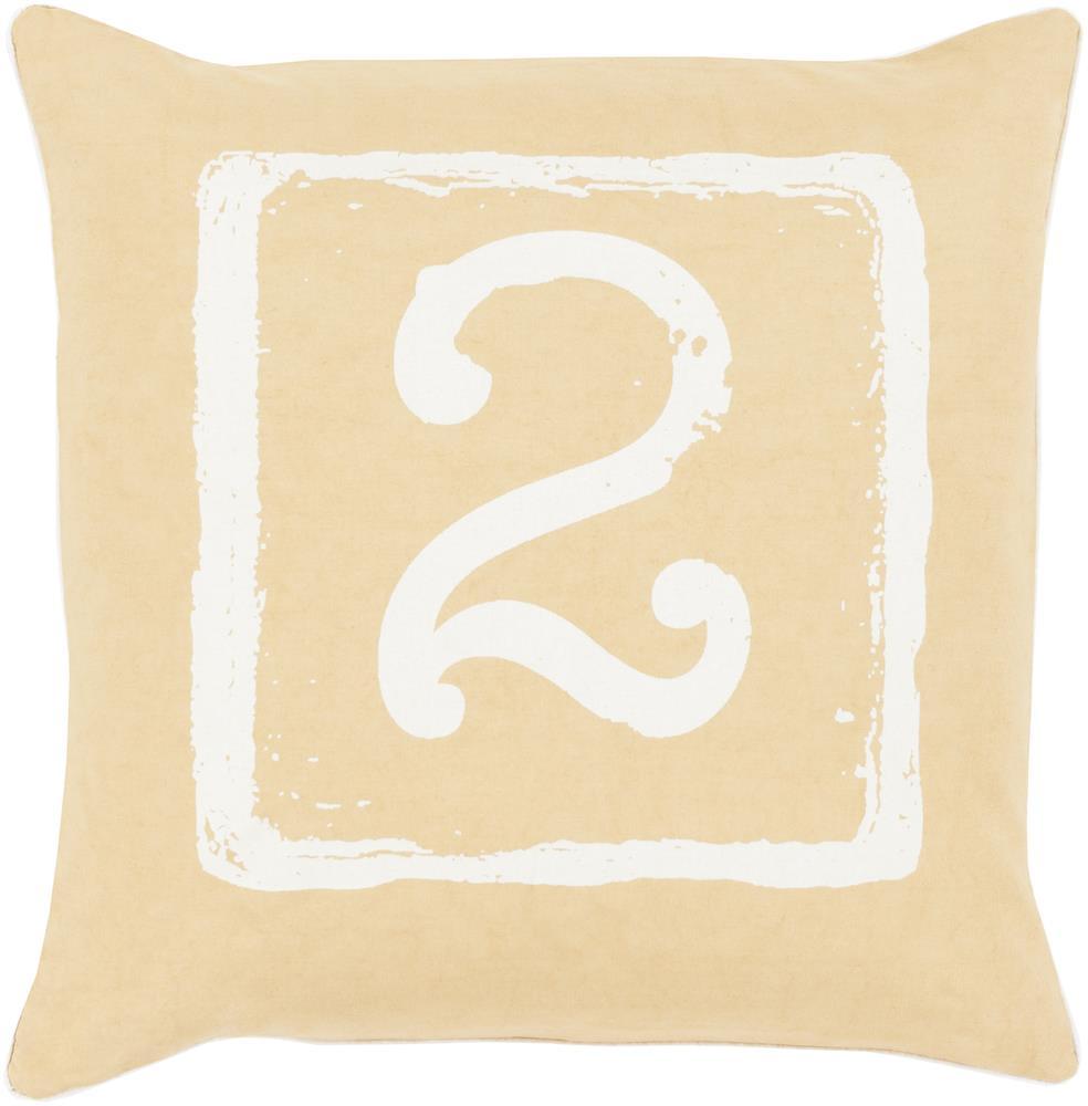 "Surya Rugs Pillows 18"" x 18"" Big Kid Blocks Pillow - Item Number: BKB046-1818P"