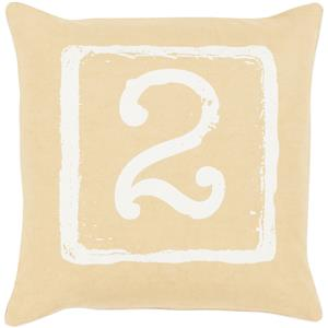 "Surya Rugs Pillows 18"" x 18"" Big Kid Blocks Pillow"