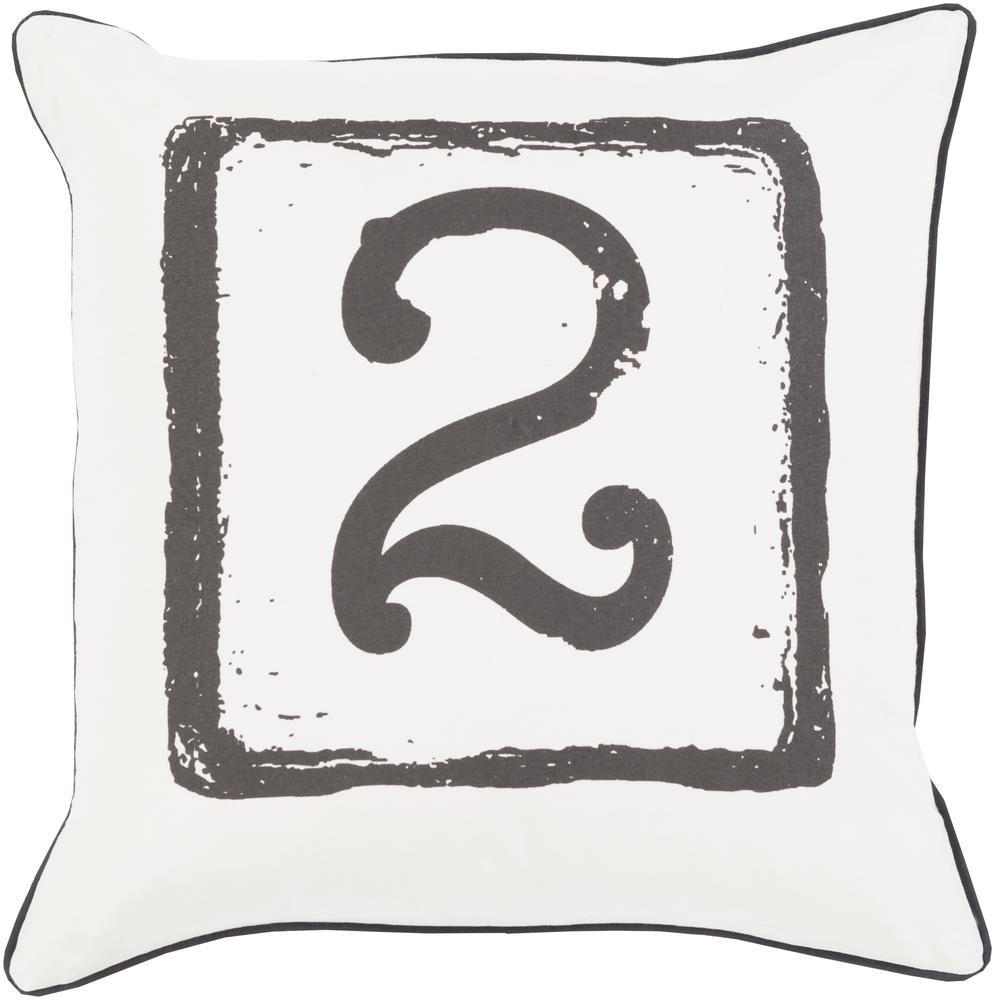 "Surya Rugs Pillows 22"" x 22"" Big Kid Blocks Pillow - Item Number: BKB047-2222P"