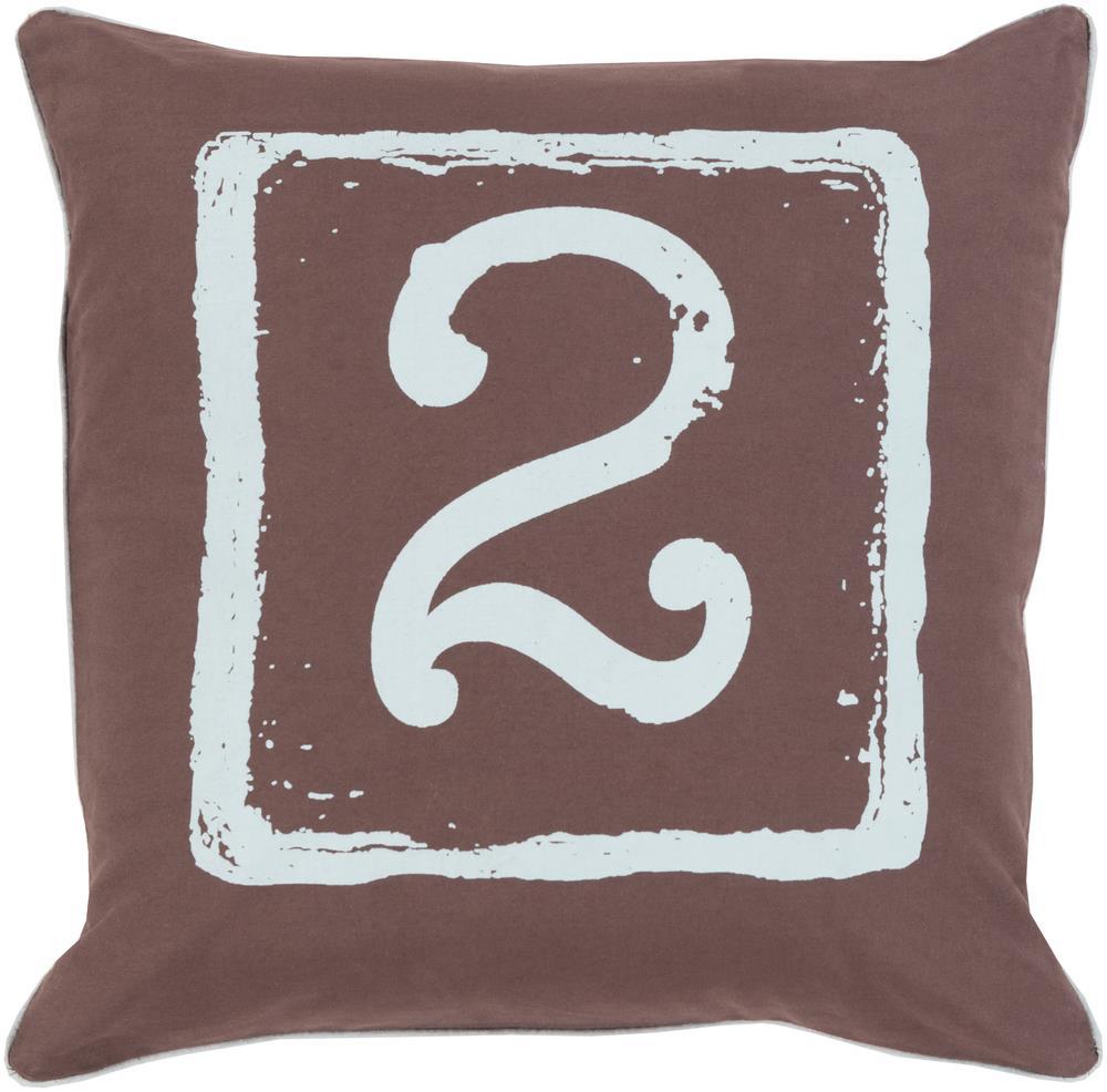 "Surya Rugs Pillows 18"" x 18"" Big Kid Blocks Pillow - Item Number: BKB048-1818P"