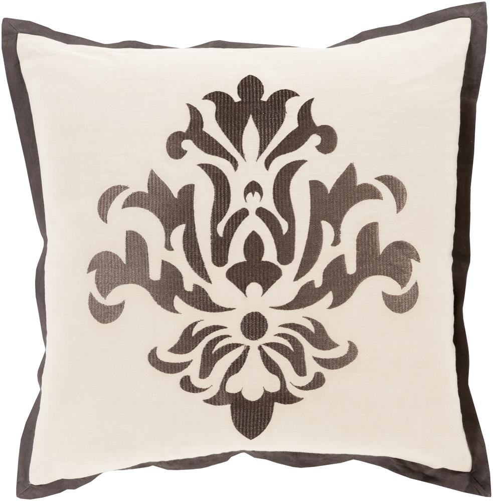 "Surya Pillows 18"" x 18"" Decorative Pillow - Item Number: CT003-1818P"