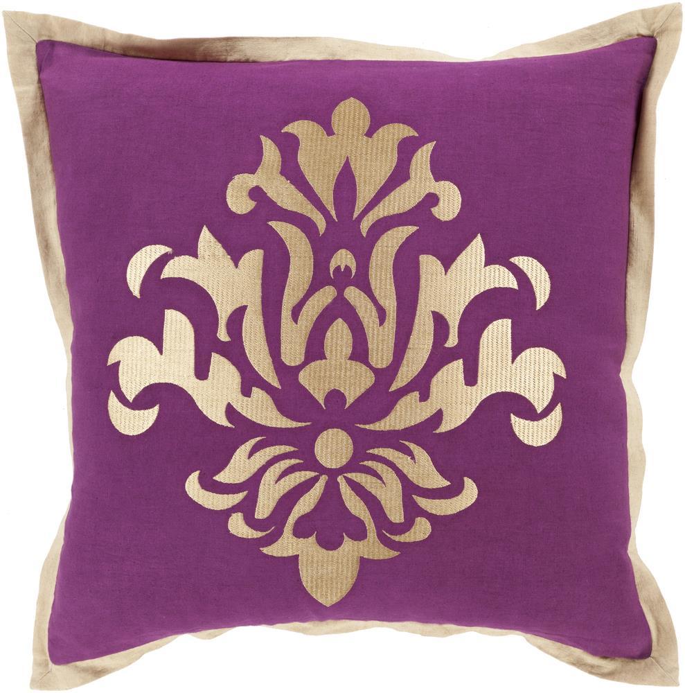 """Surya Pillows 18"""" x 18"""" Decorative Pillow - Item Number: CT004-1818P"""
