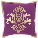 "Surya Pillows 18"" x 18"" Decorative Pillow - Item Number: CT004-1818P"