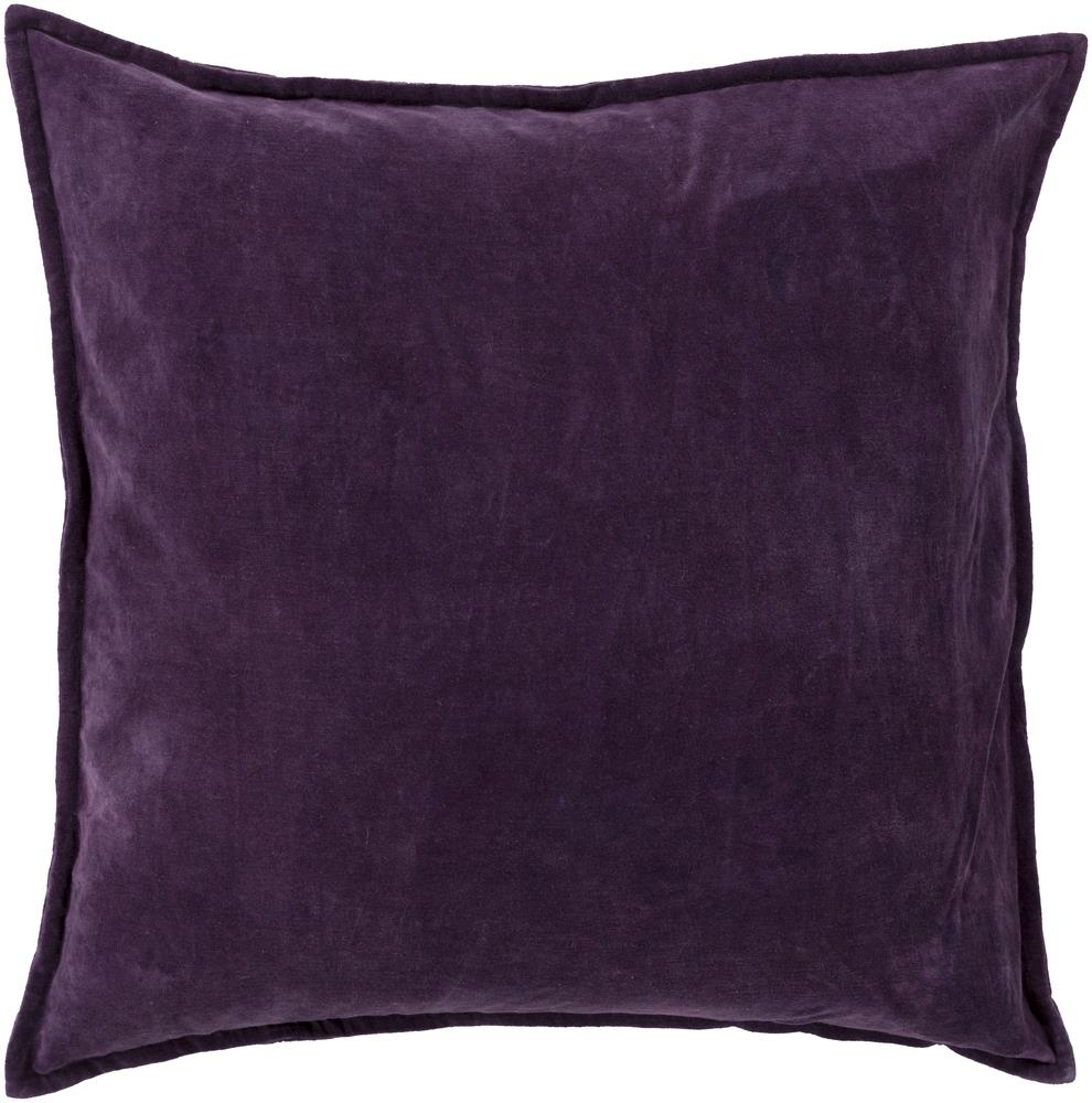 "Surya Pillows 22"" x 22"" Cotton Velvet Pillow - Item Number: CV006-2222P"