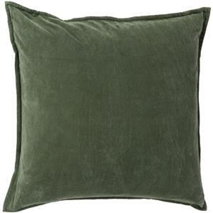 "Surya Rugs Pillows 18"" x 18"" Cotton Velvet Pillow"