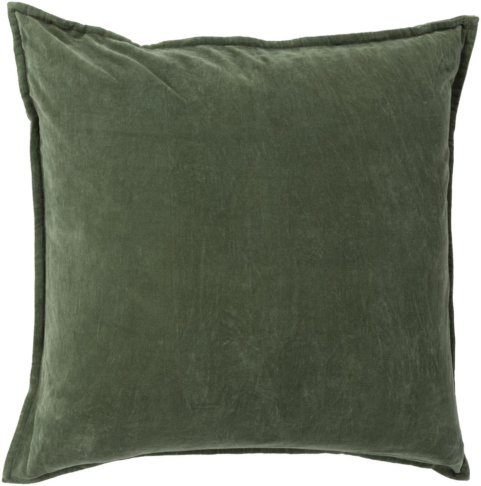 "Surya Pillows 22"" x 22"" Cotton Velvet Pillow - Item Number: CV008-2222P"