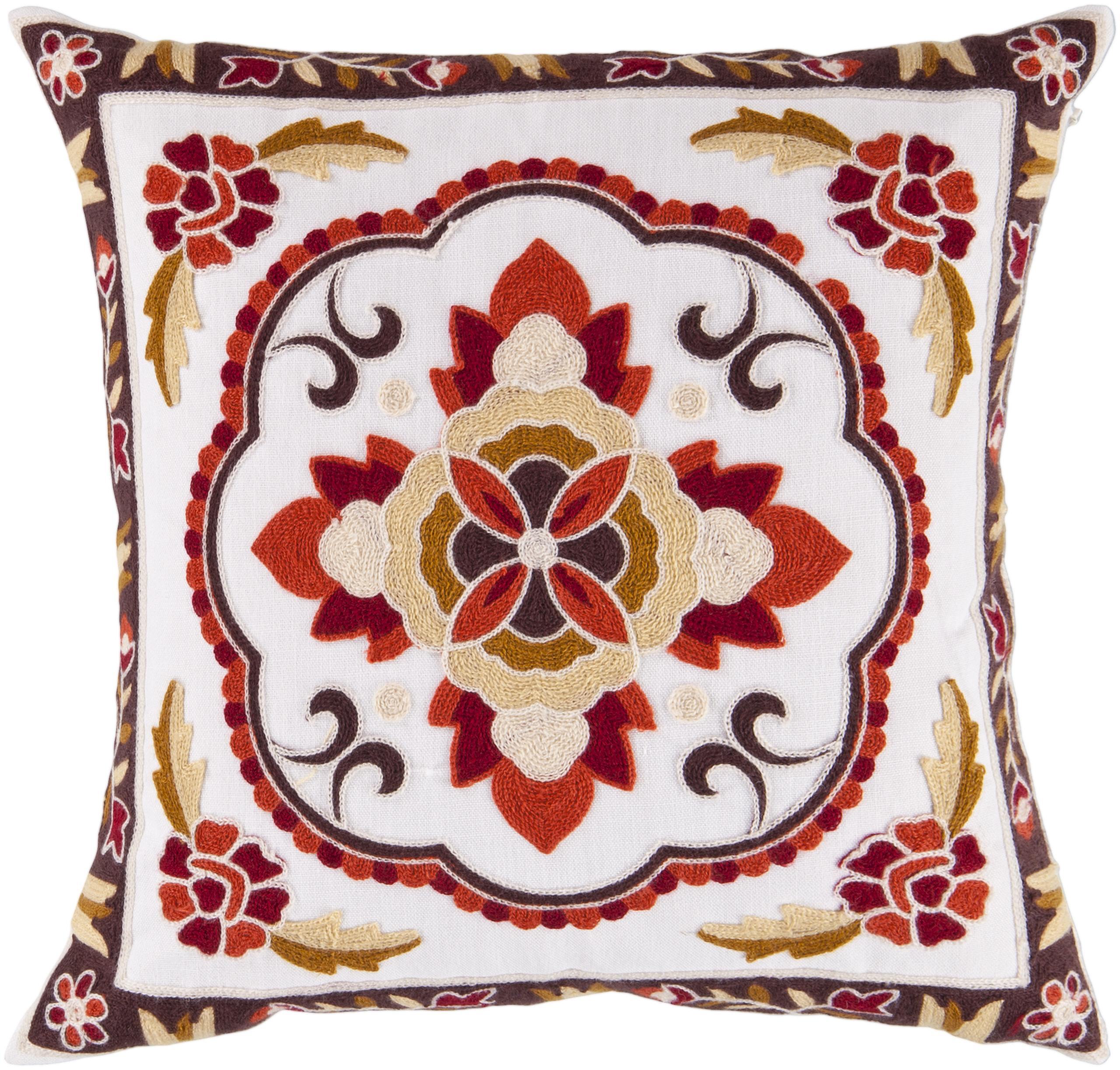 "Surya Pillows 18"" x 18"" Pillow - Item Number: FF025-1818P"