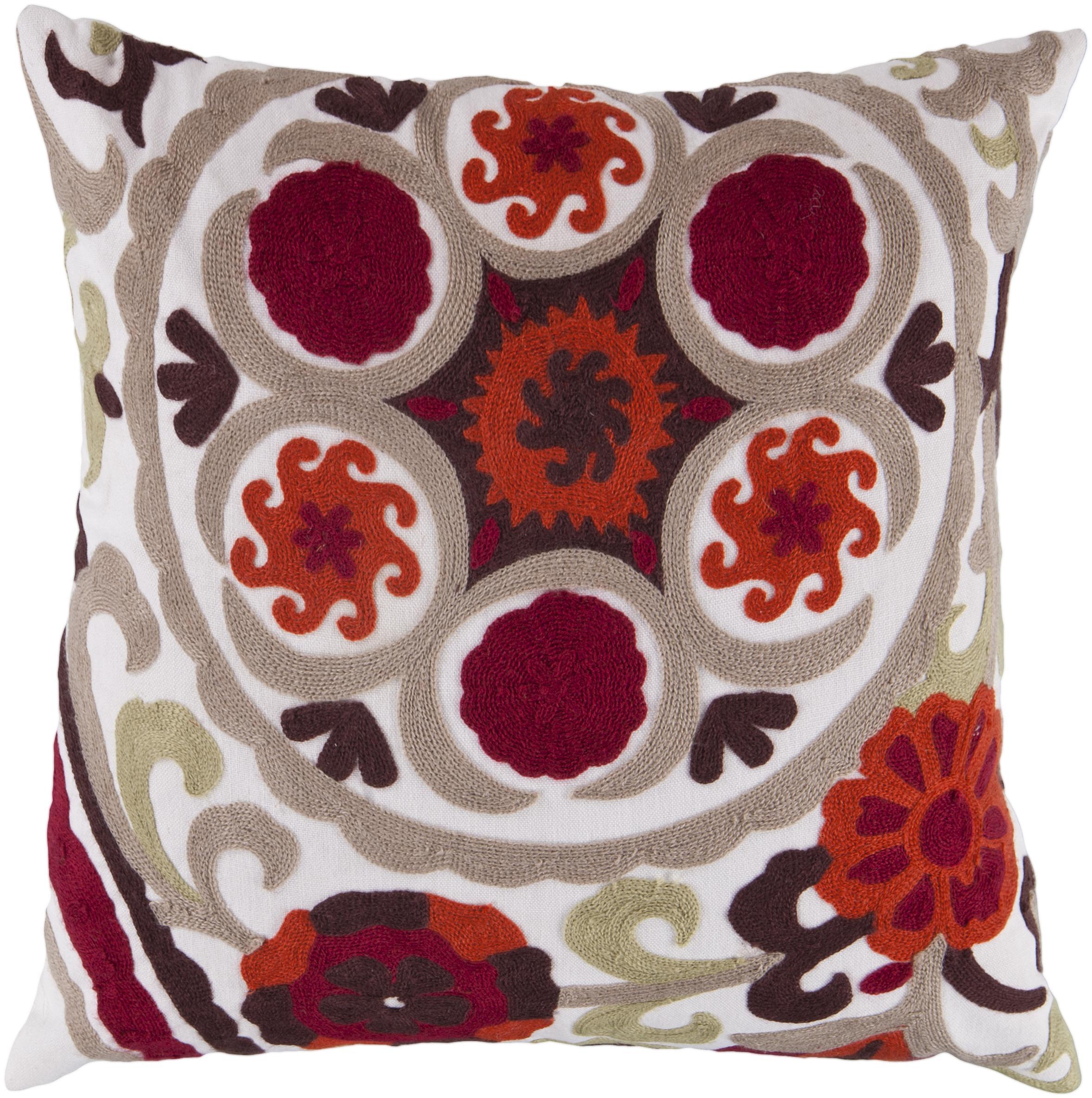 """Surya Pillows 18"""" x 18"""" Pillow - Item Number: FF028-1818P"""