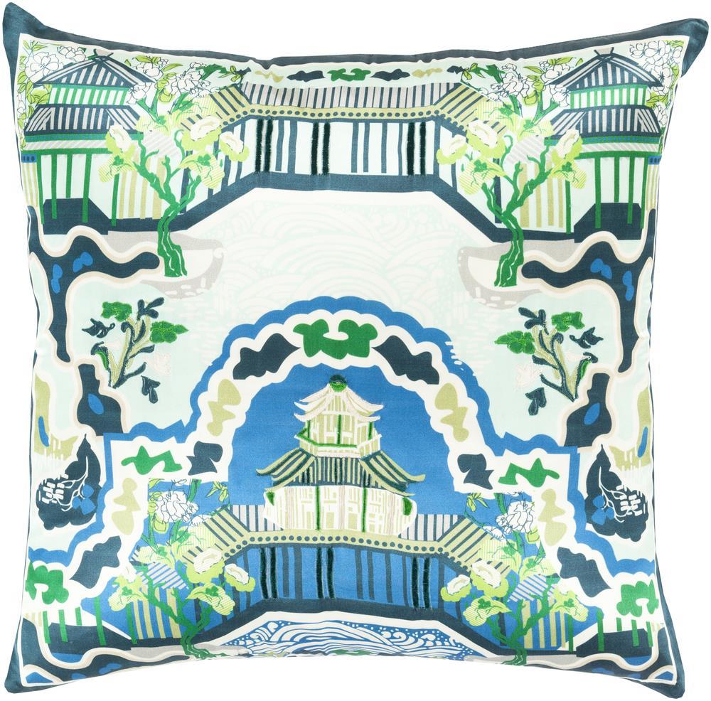 """Surya Pillows 18"""" x 18"""" Decorative Pillow - Item Number: GE008-1818P"""