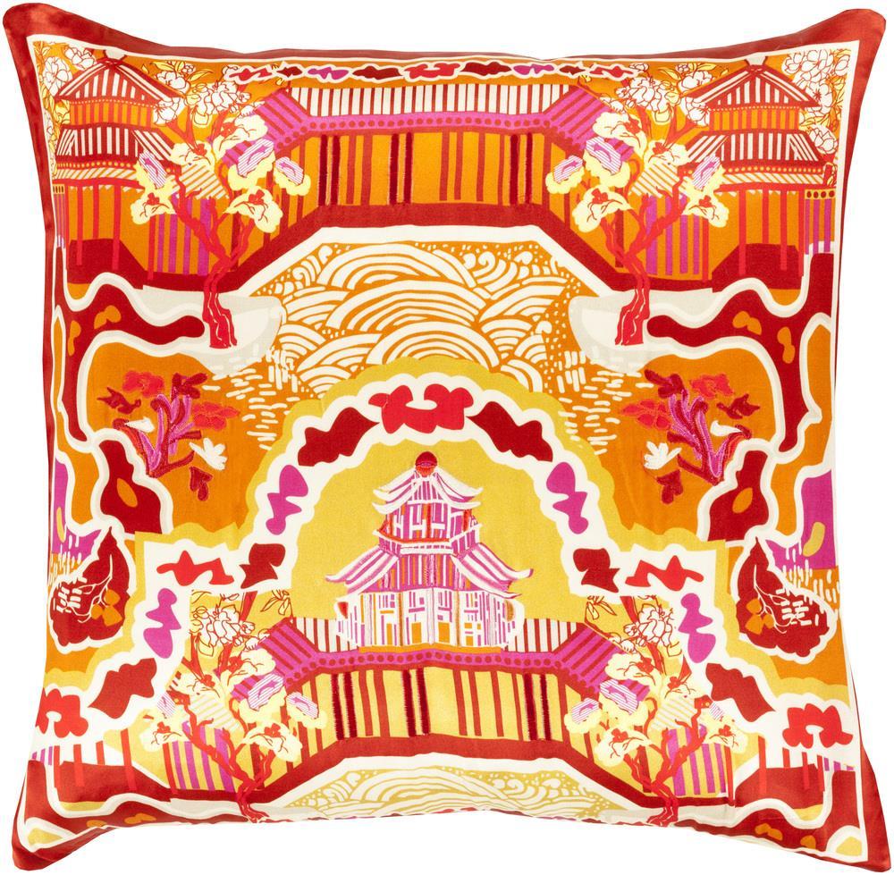 """Surya Pillows 18"""" x 18"""" Decorative Pillow - Item Number: GE009-1818P"""