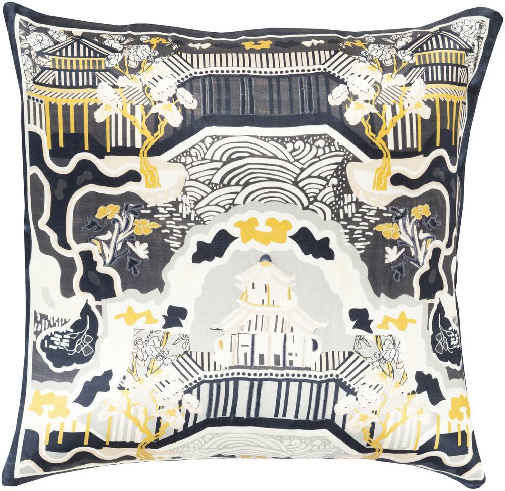 """Surya Pillows 18"""" x 18"""" Decorative Pillow - Item Number: GE011-1818P"""